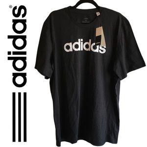 Black and White adidas Crew Neck T Shirt Size XL
